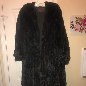 Brown Mink Fur Coat, Full-Length